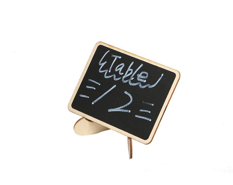 10 Pcs Diy Assembled Mini Blackboard Wooden Name Message Black Board Wedding Party Labels Wood Chalkboard Table Number Stand