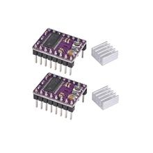 BIQU StepStick DRV8825 DRV 8825 Драйвер шагового двигателя Ramps 1,4 Reprap 4 PCB Модуль Замена A4988 с радиатором 3D pinter запчасти