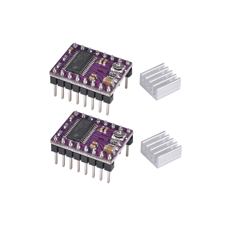 BIQU StepStick DRV8825 DRV 8825 Stepper Motor Driver Ramps 1 4 Reprap 4 PCB Module Replace A4988 With Heatsink 3D pinter parts