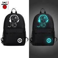 Hot Sell 2016 New Shoulders Bag Nightlight Fashion S Casual Backpack Teenagers Men Women Student School
