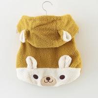 Baby girl coat winter cartoon rabbit baby vest sleeveless baby girl hoodie coats 1 2years baby girls clothing