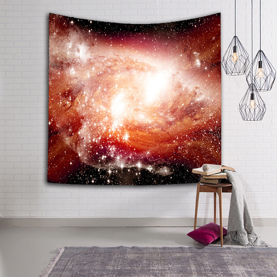 Beautiful Galaxy Tapestries Wall Hanging Hippie Retro Home