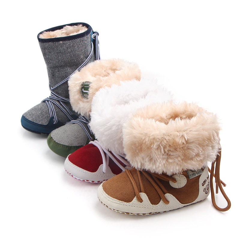 Joyo roy Autumn Winter Fashion Newborn Baby non-slip keep warm shoes 0-2 years old baby toddler shoes can be change dj0189
