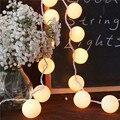 20 Bolas/pcs Vintage/dulce Pastel de tono/puro blanco Bola de Algodón luces de Hadas Cadena Fiesta casa Patio Romántica de la boda de Navidad decoración