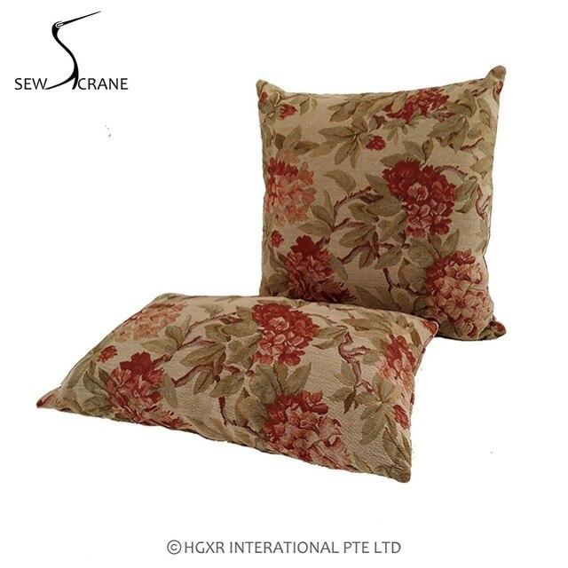 SewCrane Vintage Look Floral Square Decorative Throw Pillow Cover Gorgeous Decorative Pillow Slipcovers