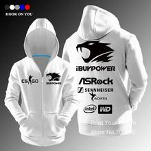 CSGO Team ibuypower reißverschluss hoodies Männer freizeitjacke mantel sweatshirt fleece casual fashion tops qualität