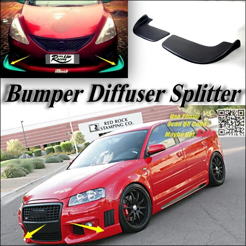 ANTEKE for Volkswagen Passat B8 2018 car Styling Car Front Lip Chin Bumper Body Kits Deflector Spoiler Splitter Diffuser black3 Front Lip-