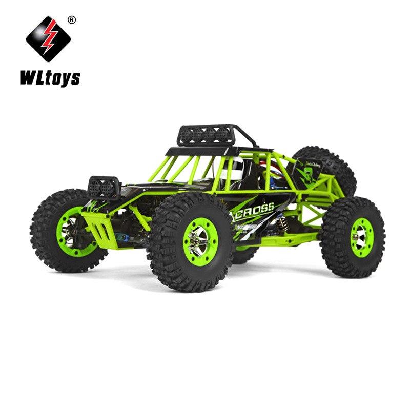 Mini voiture RC pour WLtoys 12428 1:12 échelle véhicule tout-terrain 2.4G 4WD haute vitesse monstre camion radiocommande enfant jouet @