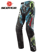 SCOYCO Motorcycle Pants Motocross Off Road Racing Hip Pads Trousers Summer Motorcycle Wearable Pants Pantalon Moto Racing Pants