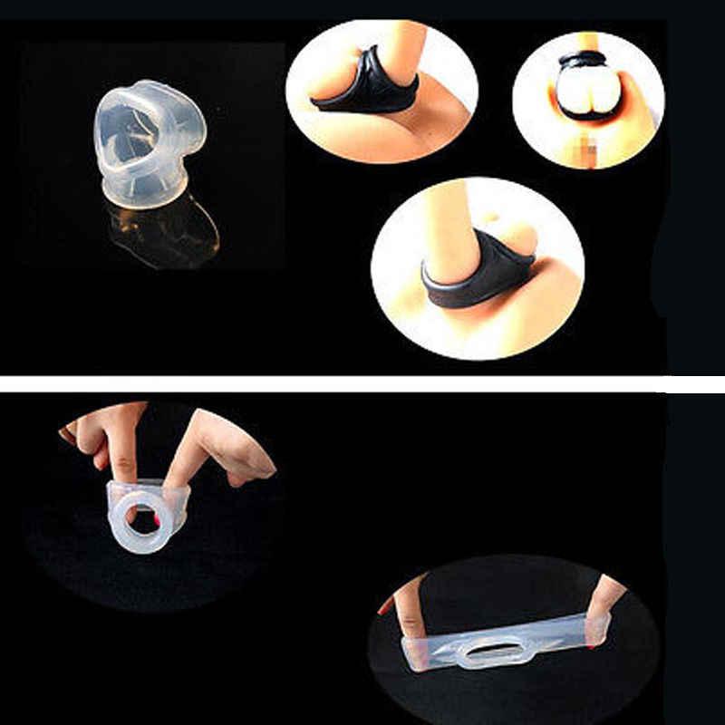 Najnowszy Hot mężczyźni mężczyzna moszny wycisnąć pierścień nosze TPE Enhancer opóźnienie Chastity Cage Ball GL