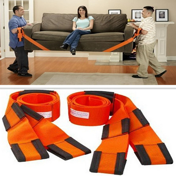 Hot Sale! 2PCS Moving Straps Underarm Levering Transport Rope Belt Hjem Carry Møbler Easier Møbler Bæreverktøy 302-0302
