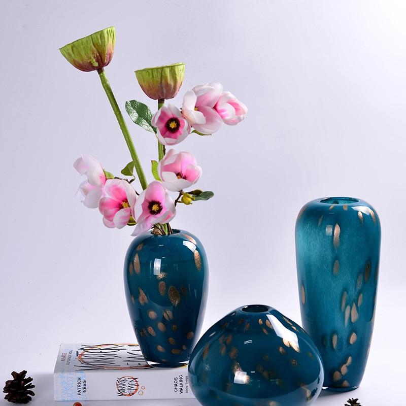European colored glass vase for decoration home decor ...
