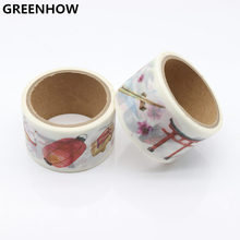 GREENHOW Vintage Chinese Style Washi Tape Japansese Stationery Cute Masking DIY Scrapbooking Sticker Diary Paper Label 9014