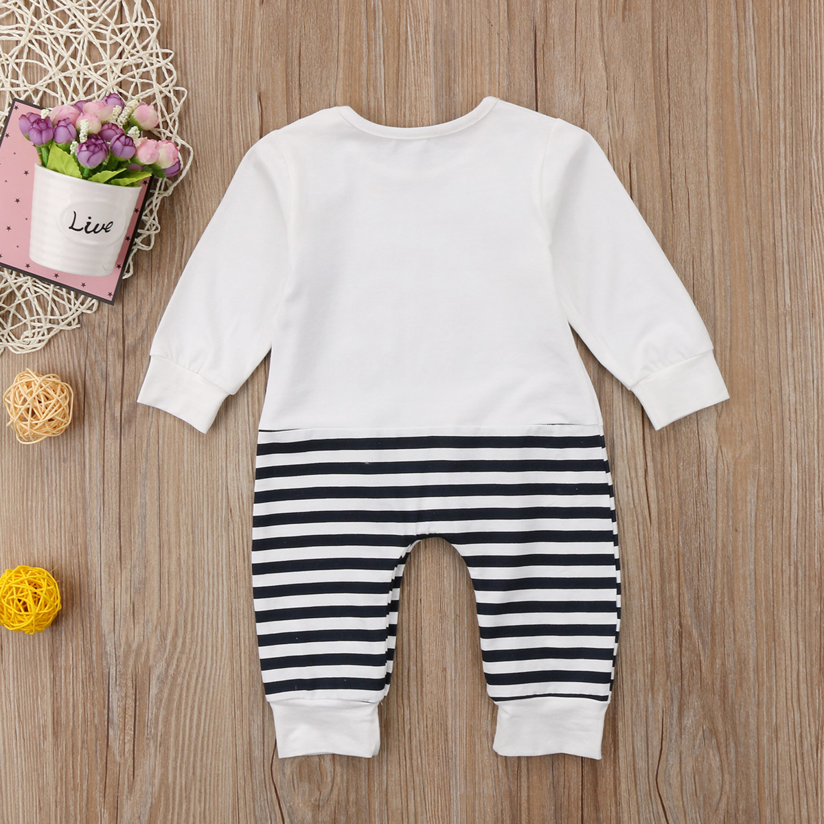 101e846842c4 White Elephant Striped Cotton Adorable Kids Baby Girls Boys Romper Jumpsuit  Outfits Playsuit Clothes-in Rompers from Mother   Kids on Aliexpress.com ...