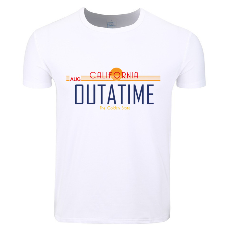 Asian Size Men And Women Print Back to the Future Classic Movie Science T-shirt O-Neck Short Sleeves Summer Tshirt HCP4426