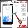 2pcs For Meizu M5c Clear Transparent Tempered Glass Screen Protective Glass ON M5c M710H 9H Hard Glass for Meizu M5C M 5c Glass