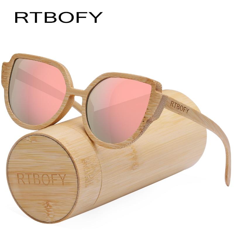 c54c413790d98 RTBOFY Armação De Bambu de Madeira Óculos De Sol Das Mulheres Óculos Óculos  de Lentes Polarizadas