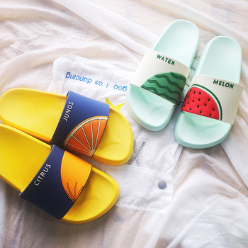Women Summer Slippers Cute Fruits Watermelon Strawberry Soft Sole Beach Slides Indoor & Outdoor Slippers Sandals Women Shoes 2