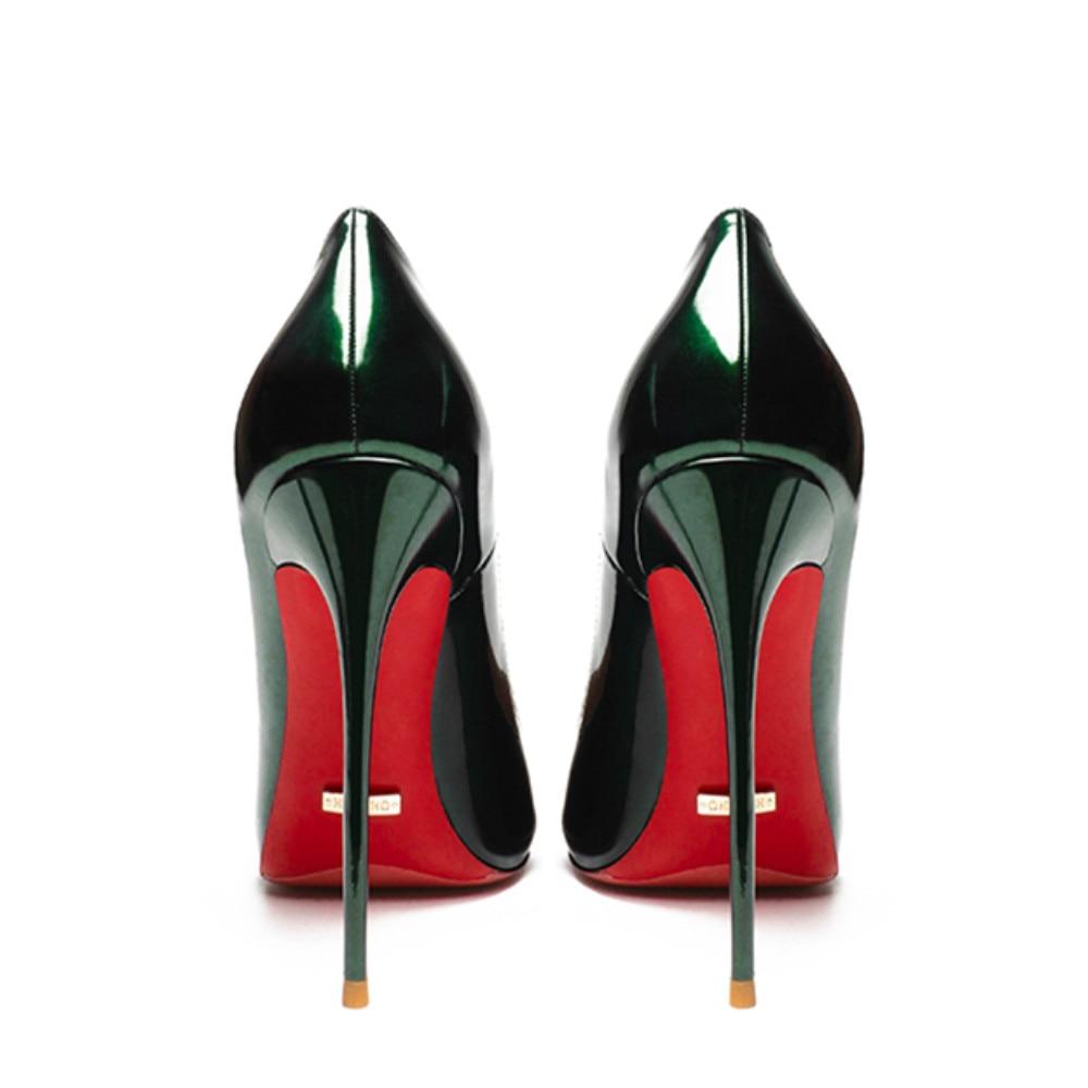 Qualidade sexy bombas femininas apontou toe sapatos