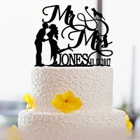 Creative Cake Topper For Wedding Couple Wedding Party Cake Decoration Tools Custom