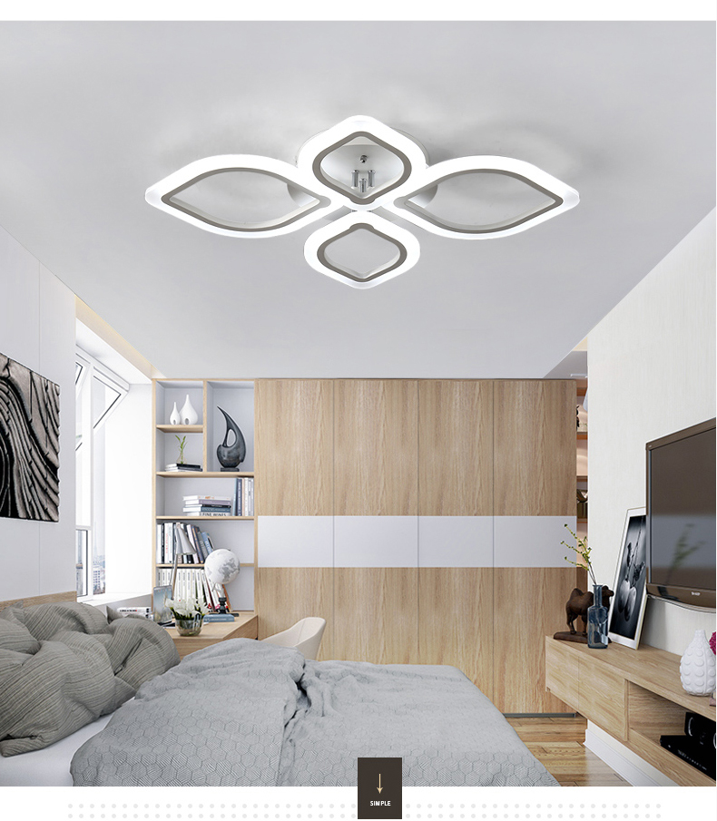 HTB1QJONXUvrK1RjSspcq6zzSXXa6 Modern Chandeliers Led to Living Room Bedroom Dining Room Acrylic Ceiling Lamp Chandelier Home Indoor Lighting