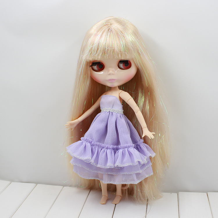 Sweet Boneca Blyth Nude Doll with joint body long hair with bangs bjd blyth dolls for sale tony christian landi aodem