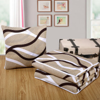 Wave Line Geometric Plaid Multifuntion Cushion Blanket Decorative Back Lumbar Throw Pillow Quilt Office Chaise Lounge