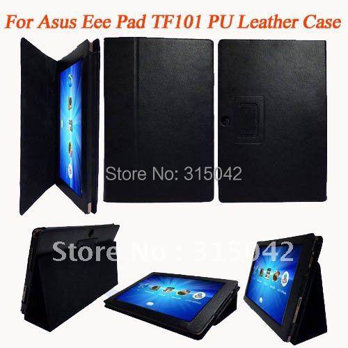 imágenes para Caso de cuero de LA PU para Asus EeePad TF101, para asus tf101 cubierta protectora, PP bolsa de embalaje