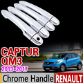 Per Renault Captur Kaptur Samsung QM3 Chrome Maniglia Della Copertura Trim Set 2013 2014 2015 2016 2017 2018 Accessori Auto Adesivo styling