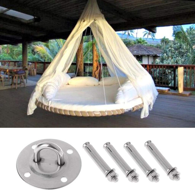 (SHIP NOW ) Yoga Accessories Hammock Wall Mount Anchor Hooks Heavy Duty Hanging Kit for Aerial Yoga/Ceiling/Gym/Swing 5