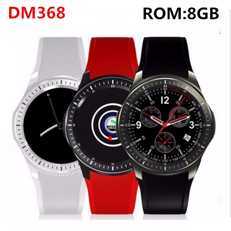 Original DM368 Sport Smart Watch Phone MTK6580 Android OS 3G WIFI GPS Heart Rate AMOLED Display Quad Core Bluetooth Smartwatch bluetooth heart rate gps smart watch kw88 mtk6580 quad core 1 39 inch resolution 400 400 3g wifi smartwatch phone