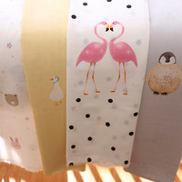 Pure cotton fabric 2.5 meters wide spread flamingo baby cartoon sheet quilt cotton double gauze cloth