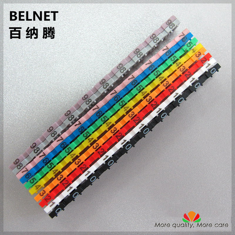Cassette number tube cable identification CAT6 cable cassette digital label CAT6 cable number tube Digital tag number 0-9 1lot number 11
