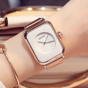 Image 2 - Женские Часы GUOU 2019, роскошные часы, модные женские часы из розового золота, женские часы, женские часы