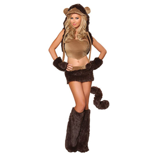 Luxurious Dark Brown Faux Fur Monkey Costume Sexy Woman and Animal Woman Animal Hot Cosplay Party  sc 1 st  AliExpress.com & Luxurious Dark Brown Faux Fur Monkey Costume Sexy Woman and Animal ...