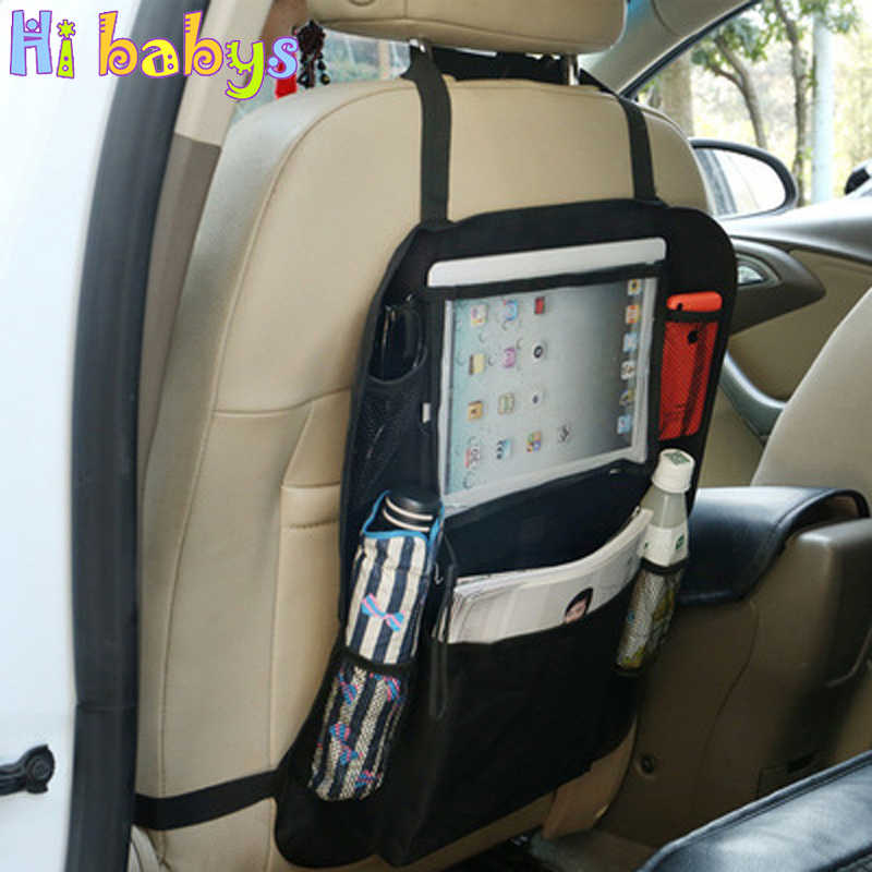 Child safety seat storage bag auto Car seat organizer storage bag for Car Seat Back Hanging Bag for Kids Mesh