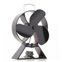 Бесплатная плита термометр + экологичный 3-лопастный вентилятор для печи, работающий от тепловой энергии для дровяной печи экологический Ве...