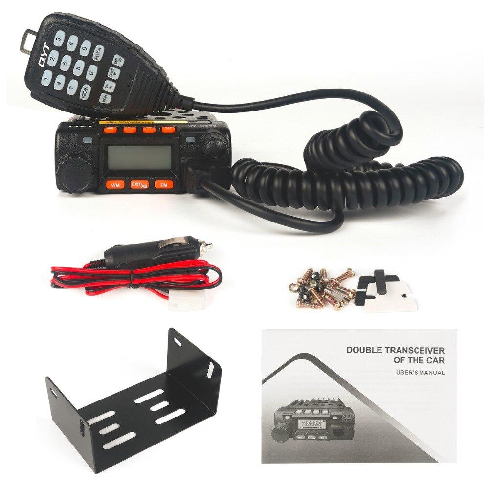 QYT KT8900 Mini Car Transceiver FM 136-174//400-480MHz Dual Band Mobile Ham Radio