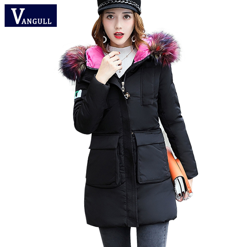 Winter Women Fashion Long Thick Warm Cotton Jacket Women High Quality raccoon fur collar hooded Slim Coat Women Overcoat Parkas snow wear 2017 high quality winter women jacket cotton coats fur collar hooded parkas fashion long thick femme outwear cm1346