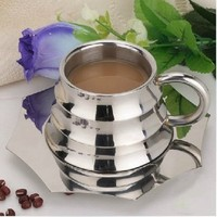150ml Stainless steel bamboo model design tee coffee cups set household drink cup mugs