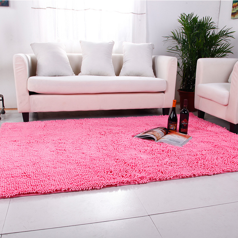 Pastoral Chenille Fabric Carpets For Living Room Coffee Table Floor ...