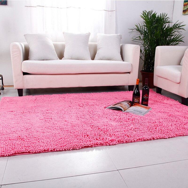 Tapis de tissu de Chenille pastorale pour le tapis de plancher de Table basse de salon tapis et tapis lavables mous pour le tapis de jeu d'enfants de chambre à coucher