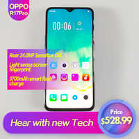 OPPO R17 Pro Global Rom 6.4 téléphone intelligent plein écran 3700 mAh 2340x1080 identification d'empreintes digitales 1080 P Octa Core 25MP + 24MP + 20MP Super VOOC