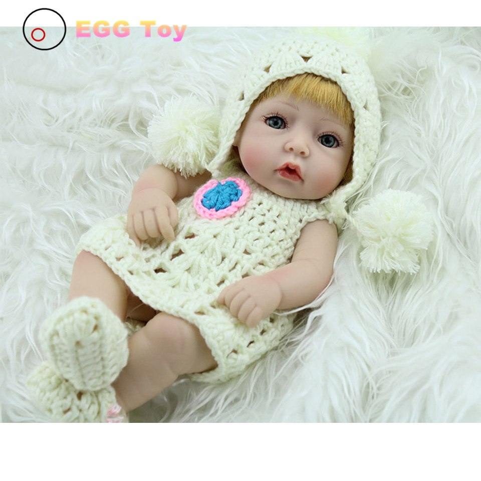 28cm White Full body Silicone Reborn Baby Dolls Toys Lifelike Girls Doll Play Bath toys Gift  Princess Reborn babies brinquedods 28cm white full body silicone reborn baby dolls toys lifelike girls doll play bath toys gift brinquedods princess reborn babies