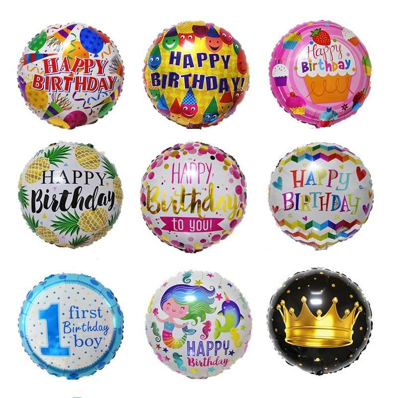18 Inch happy birthday foil Balloons Mother's Day crown Party Decoration Balloon holiday Aluminum Inflatable Foil Ball kids toy