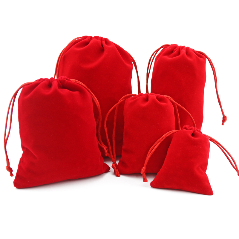 Fashion New gift velvet bag black velvet high-grade bag jewelry bag / jewelry box wholesale 7*9/8*10/10*12/15*20 Accessories