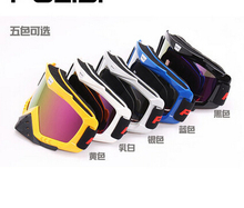POLISI Motocross Off Road Glasses Snow Snowboard Ski Goggles Anti Fog Motorcycle Dirt Bike Downhill Airsoft