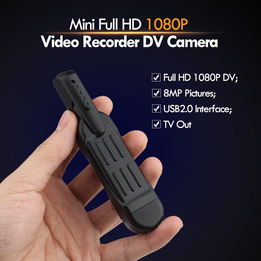 T189 8 MP Full HD 1080P mini pildspalvas balss ierakstītājs / digitālais videokamera ar videoklipu Mini DV kamera videokamera Camara Mini