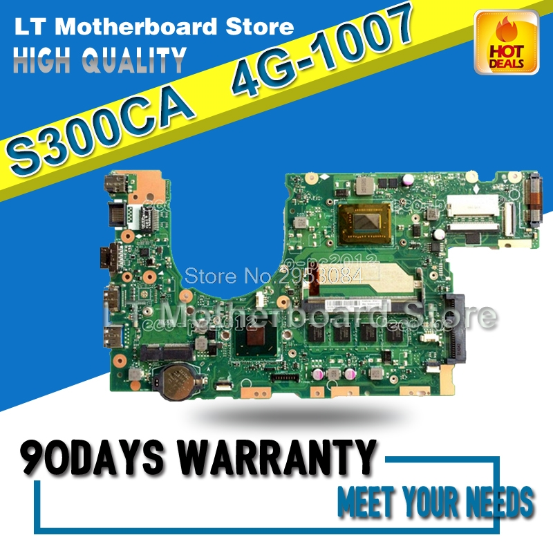S300CA Laptop Motherboard 1007U 4G S300CA REV:2.0 100% Good Qulity Fully tested & working S-4 12 rev 30 s xxxl