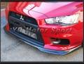 Auto Zubehör Carbon Faser RA Stil Front Lip Fit Für 2008 2012 Evolution EVO X 10 Frontschürze Nieder splitter Lip-in Stoßstangen aus Kraftfahrzeuge und Motorräder bei